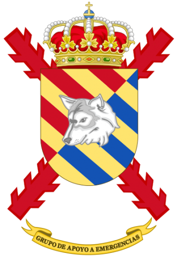 Coat of arms (crest) of the Emergency Support Group, Emergency Intervention and Support Regiment, Spain