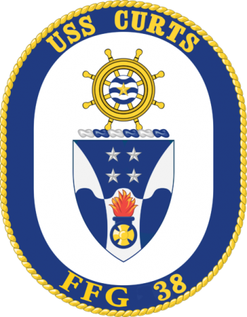 Coat of arms (crest) of the Frigate USS Curts (FFG-38)