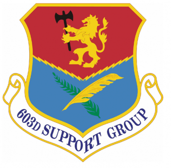 Coat of arms (crest) of the 603rd Support Group, US Air Force