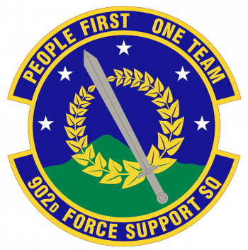 Coat of arms (crest) of the 902nd Force Support Squadron, US Air Force