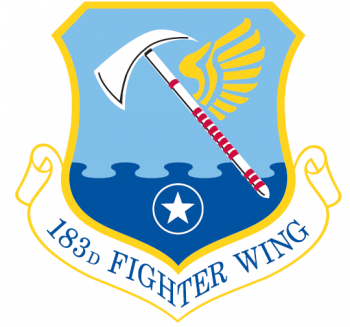 Coat of arms (crest) of the 183rd Fighter Wing, Illinois Air National Guard
