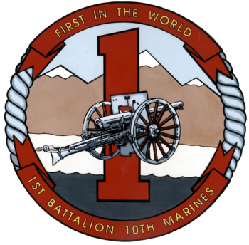 Coat of arms (crest) of the 1st Battalion, 10th Marines, USMC