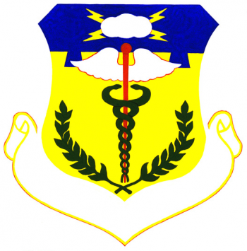 Coat of arms (crest) of the USAF Regional Hospital March, US Air Force