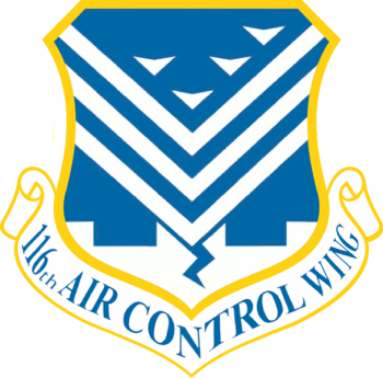 Coat of arms (crest) of the 116th Air Control Wing, Georgia Air National Guard
