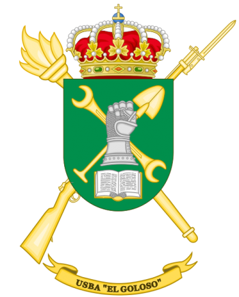 Coat of arms (crest) of the Base Services Unit El Goloso, Spanish Army