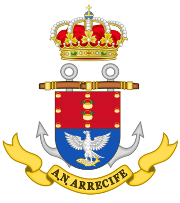 Coat of arms (crest) of the Naval Assistantship Arrecife, Spanish Navy