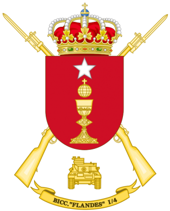 Coat of arms (crest) of the Tank Battalion Flandes I-4, Spanish Army