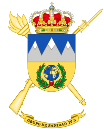 Coat of arms (crest) of the IV-3rd Army Health Services Group, Spanish Army