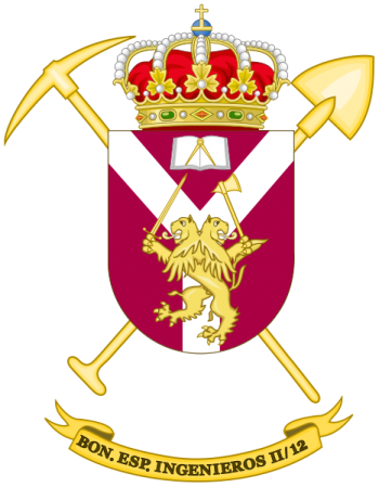 Coat of arms (crest) of the Specialist Engineer Battalion II-12, Spanish Army