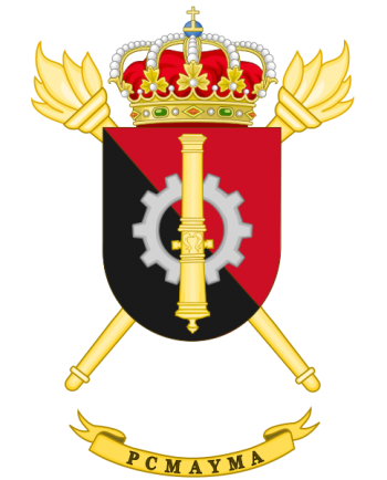 Coat of arms (crest) of the Artillery Weaponery and Equipment Maintenance Park and Center, Spanish Army