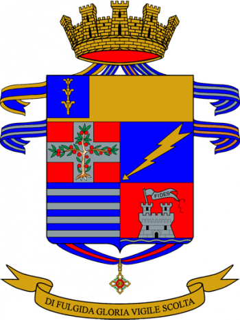 Coat of arms (crest) of the 187th Parachute Regiment Folgore, Italian Army