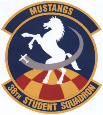 Coat of arms (crest) of the 38th Student Squadron, US Air Force