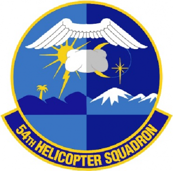 Coat of arms (crest) of the 54th Helicopter Squadron, US Air Force