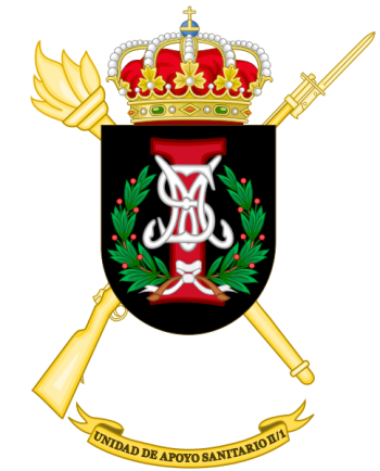 Coat of arms (crest) of the II-1st Army Health Support Unit, Spanish Army