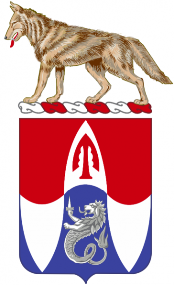 Coat of arms (crest) of the 153rd Engineer Battalion, South Dakota Army National Guard