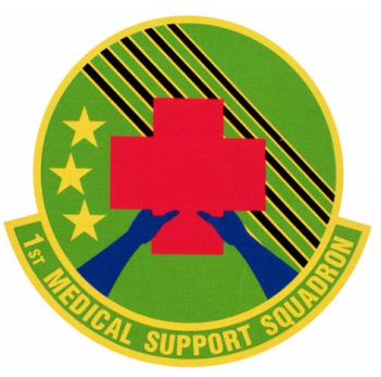 Coat of arms (crest) of the 1st Medical Support Squadron, US Air Force
