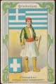 Arms, Flags and Folk Costume trade card Diamantine Griechenland