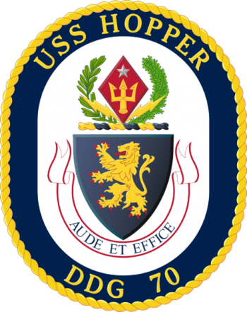 Coat of arms (crest) of the Destroyer USS Hopper