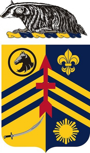 Coat of arms (crest) of the 105th Cavalry Regiment, Wisconsin Army National Guard