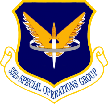Coat of arms (crest) of the 352nd Special Operations Group, US Air Force