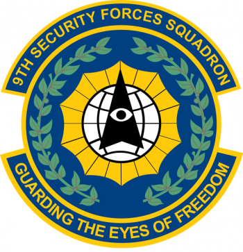 Coat of arms (crest) of the 9th Security Forces Squadron, US Air Force