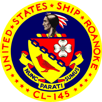 Coat of arms (crest) of the Cruiser USS Roanoke (CL-145)
