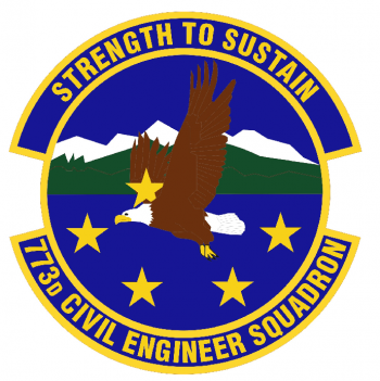 Coat of arms (crest) of the 773rd Civil Engineer Squadron, US Air Force