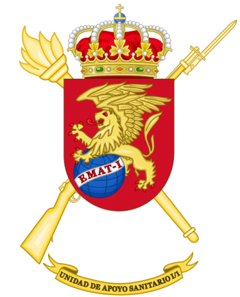 Coat of arms (crest) of the I-1st Army Health Support Unit, Spanish Army