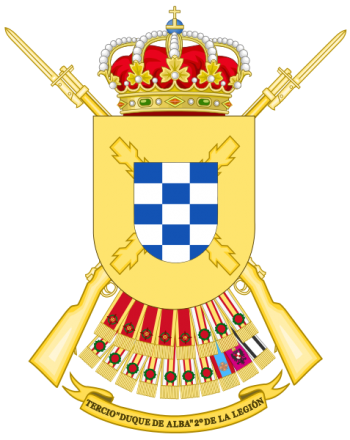 Coat of arms (crest) of the Tercio Duque de Alba 2nd of the Legion, Spanish Army