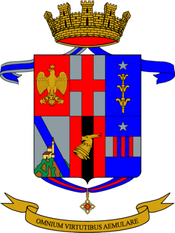 Coat of arms (crest) of the 68th Infantry Battalion Palermo, Italian Army