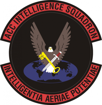 Coat of arms (crest) of the Air Combat Command Intelligence Squadron, US Air Force