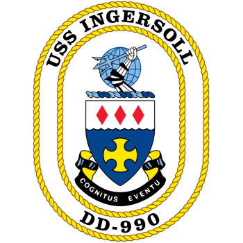 Coat of arms (crest) of the Destroyer USS Ingersoll (DD-990)