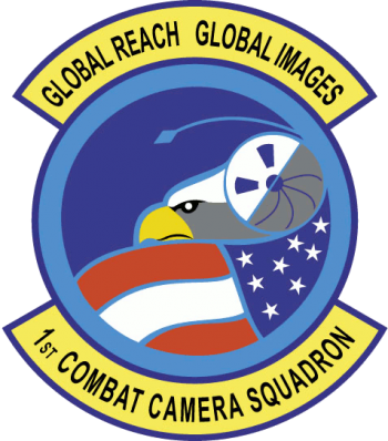 Coat of arms (crest) of the 1st Combat Camera Squadron, US Air Force