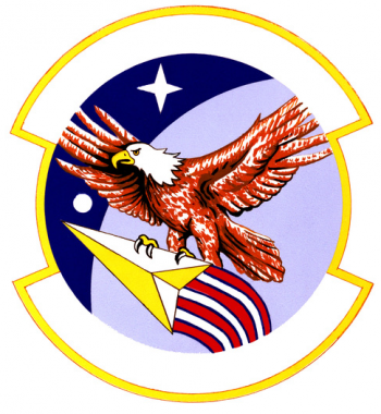 Coat of arms (crest) of the 1st Manned Space Flight Control Squadron, US Air Force