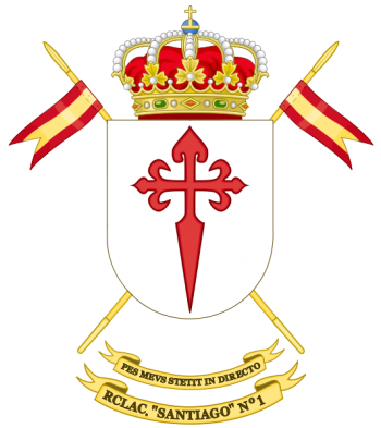 Coat of arms (crest) of the Light Armoured Cavalry Regiment Santiago No 1, Spanish Army