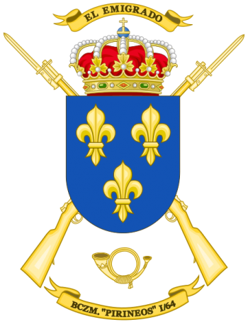 Coat of arms (crest) of the Mountain Rifle Battalion Pirineos I-64, Spanish Army