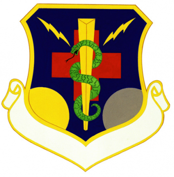 Coat of arms (crest) of the 857th Strategic Hospital, US Air Force