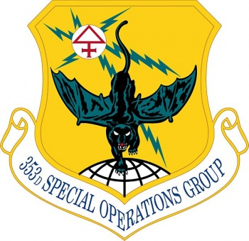 Coat of arms (crest) of the 353rd Special Operations Group, US Air Force