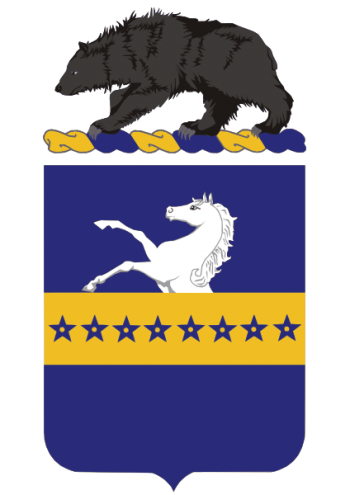 Arms of 8th Cavalry Regiment, US Army