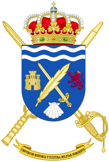 Coat of arms (crest) of the Military History and Culture Center Northwest, Spanish Army