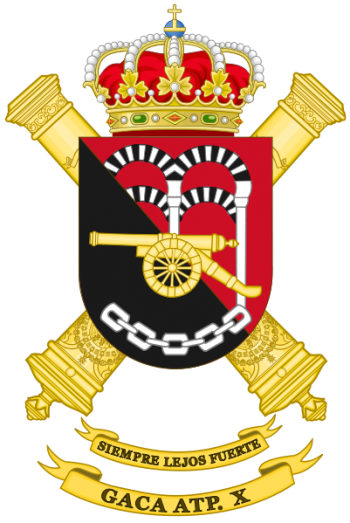 Coat of arms (crest) of the Selfpropelled Field Artillery Group X, Spanish Army