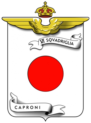Coat of arms (crest) of the VI Caproni Squadron, Regia Aeronautica