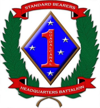 Coat of arms (crest) of the Headquarters Battalion 1st Marine Division, USMC