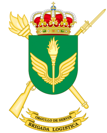 Coat of arms (crest) of the Logistics Brigade, Spanish Army