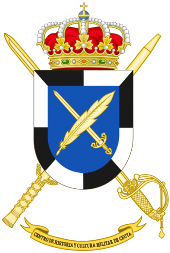 Coat of arms (crest) of the Military History and Culture Center Ceuta, Spanish Army