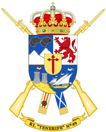 Coat of arms (crest) of the Infantry Regiment Tenerife No 49, Spanish Army