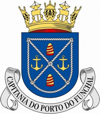 Coat of arms (crest) of the Harbour Captain of Funchal, Portuguese Navy