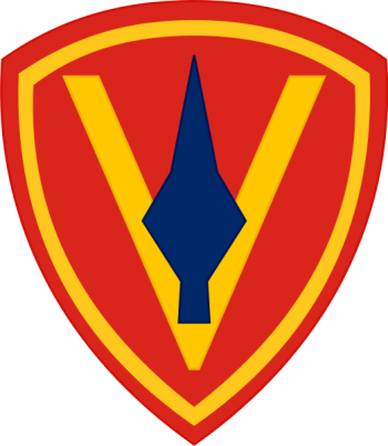 Coat of arms (crest) of the 5th Marine Division, USMC