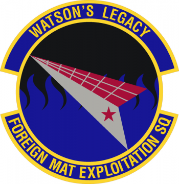 Coat of arms (crest) of the Foreign Material Exploitation Squadron, US Air Force