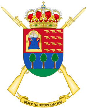 Motorized Infantry Battalion Guipúzcoa I-45, Spanish Army.png